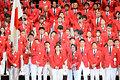 橋本聖子選手団長がリオ五輪での決意を語った=3日午後、東京都渋谷区、角野貴之撮影