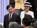 結団式に出席した皇太子ご夫妻=3日午後3時51分、東京都渋谷区、竹花徹朗撮影