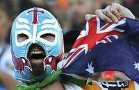 7人制ラグビー男子、フランス―豪州を観戦するファン=ロイター
