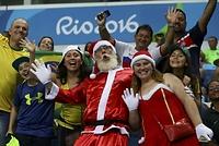 男子バスケットボール、ナイジェリア―ブラジルを観戦するファン=ロイター