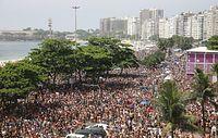 リオのカーニバル開催時のコパカバーナ