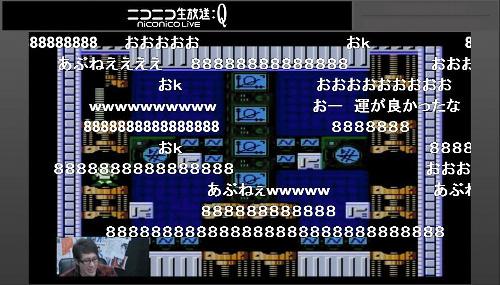 ニコニコ生放送での「ロックマン2」実況の様子