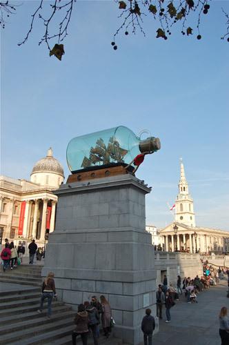 写真:2010年5月から2012年1月まで展示されていた'Ship in a bottle'