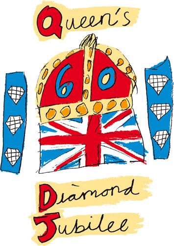 写真:公募によって選ばれた「ダイヤモンド・ジュビリー」のイラスト。チェスター在住の10歳の少女によるデザイン