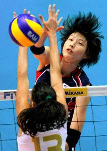 写真:韓国女子のエース金軟景=AP