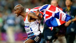 写真:男子1万メートル決勝で優勝した英国のファラ=矢木隆晴撮影