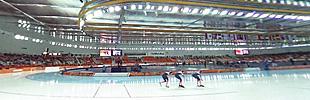 2月22日 スピードスケート団体追い抜き競技会場