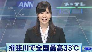 金子栞さんがニュースを読む=メ~テレ撮影