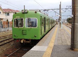 写真:銚子電鉄の銚子駅ホーム