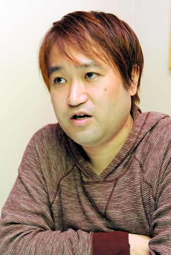 写真:ご近所だということが分かった東浩紀さん
