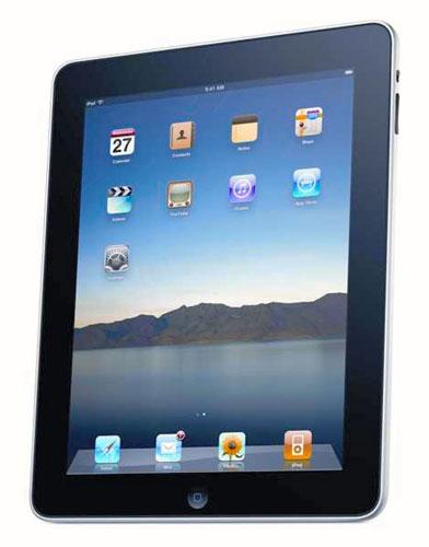 写真:米アップル社のiPad