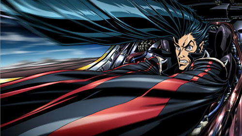写真:映画「REDLINE」の主人公JP。加速を表現するデフォルメが強烈