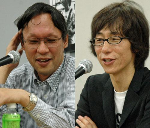 写真:奥村勝彦さん(左)と江上英樹さん。実は江上さんの方が年上