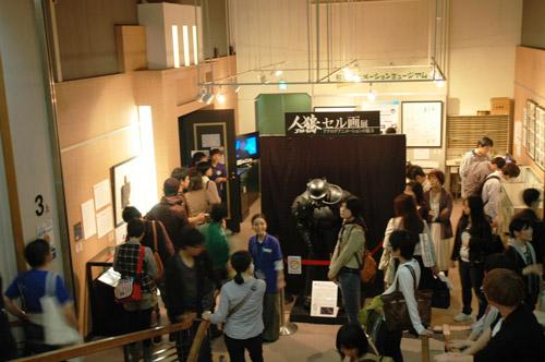 写真:「人狼 JIN−ROH」セル画展は11月20日まで