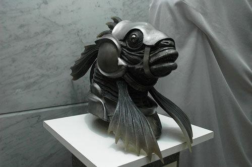 写真:これは魚「青鰉(しょうほう)」の頭部。CBCはパビリオンを出展した企業の一つなのです