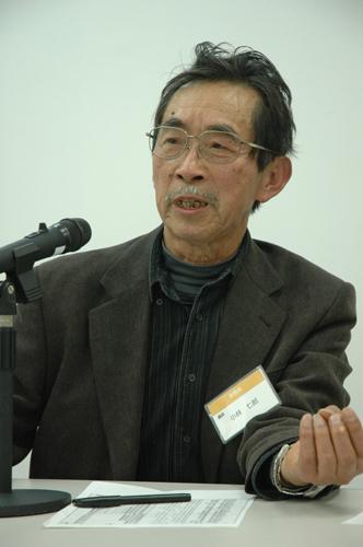 写真:講演する小林七郎さん=東京・西新宿で