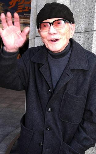 写真:岡本喜八監督=2004年撮影