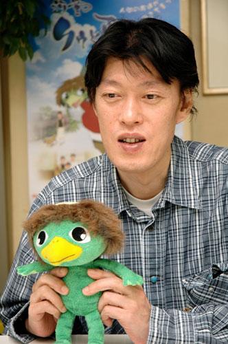 写真:「クゥ」公開時にインタビューした原恵一監督=2007年撮影