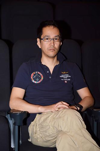 写真:インタビューにこたえてくれた神山健治監督=5月29日、名古屋