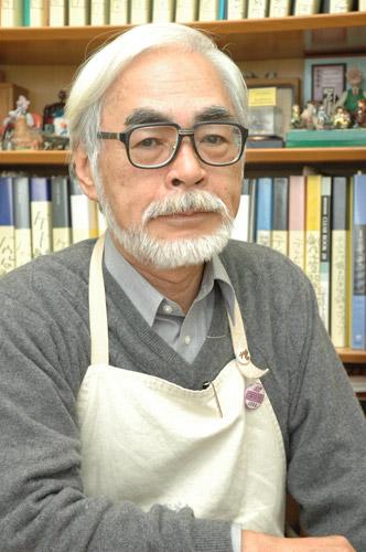 写真:宮崎駿監督。本欄でこの写真使うの何度目かなー