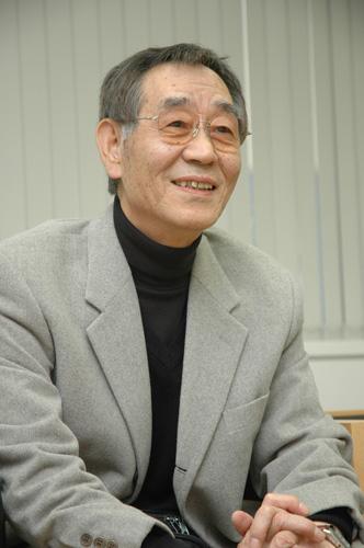 写真:杉井ギサブロー監督。「あらしのよるに」公開時のインタビューで2005年に撮影しました