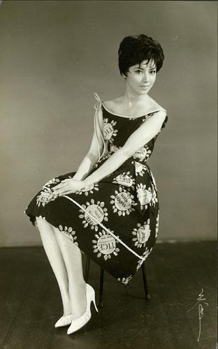 写真:若き日の水野久美さん。ブロマイド用に撮られたものという