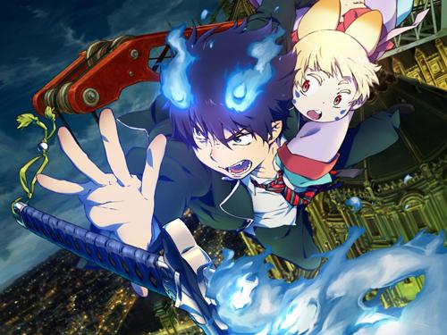 写真:「青の祓魔師——劇場版——」は28日公開。主人公・燐(左)と、うさ麻呂