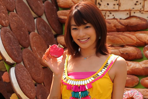 写真:和菓子が好きだという内山理名さん