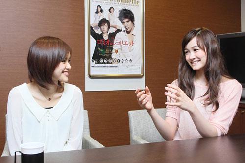 写真:昆夏美・フランク莉奈対談より=撮影・岸隆子