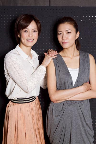写真:ミュージカル「サンセット大通り」に出演する安蘭けい(右)と彩吹真央(左)=撮影・岩村美佳
