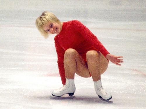 写真:札幌五輪に出場したジャネット・リンさん
