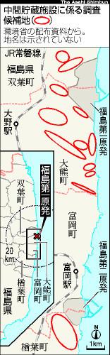 図:中間貯蔵施設に係る調査候補地