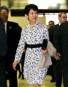 写真:ブエノスアイレスに到着した高円宮妃久子さま=矢木隆晴撮影