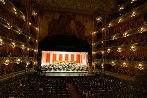 写真:6日、国際オリンピック委員会(IOC)総会の開会式が開催されたブエノスアイレスのコロン劇場=代表撮影
