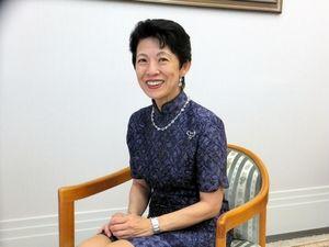 写真:取材に応じる高円宮妃久子さま=11日、東京・元赤坂の宮邸、北野隆一撮影