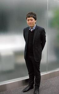 写真:天野彬さん=東京都中央区、赤田康和撮影