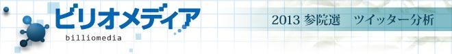 ビリオメディア 参院選2013 ツイッター分析
