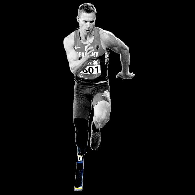 義足幅跳び選手のマルクス・レーム選手(独)の画像