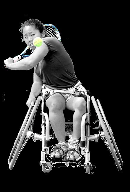 車いすテニス かみじゆい選手の画像