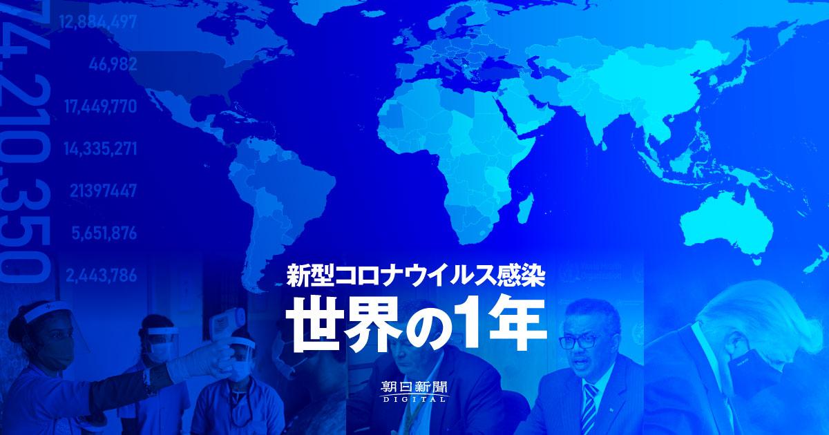 新型コロナウイルス感染 世界の1年
