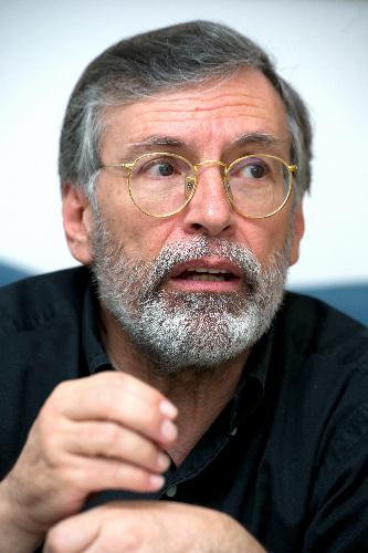 写真:マドリード自治大のフェルナンド・マリアス教授=マドリード、豊間根功智撮影