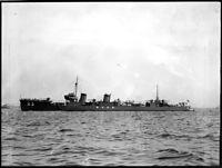 現役時代の駆逐艦「菊月」=1934年撮影