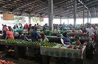 ホニアラにある中央市場=9月7日、ソロモン諸島・ガダルカナル島、橋本弦撮影