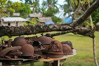 首都ホニアラから車で約30分、「ギフ高地」と呼ばれた丘陵地にあるバラナ村。周辺からは日本兵が残した鉄かぶとや武器などが今でもたくさん見つかるという=9月2日、ソロモン諸島・ガダルカナル島、橋本弦撮影