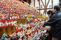春を彩るひな祭り、10会場3000体ずらり=2015年1月31日、大野市元町、小川詩織撮影