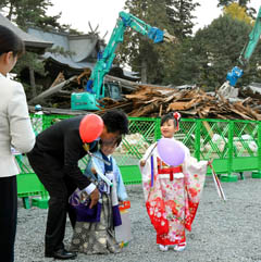 2016年11月15日 阿蘇市 阿蘇神社で七五三