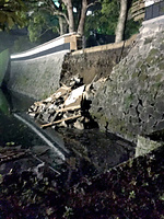 地震で倒壊した熊本城の城壁=熊本市の小杉健輔さん提供