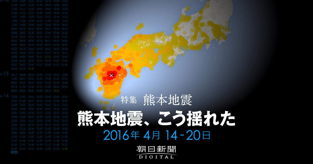 熊本地震、こう揺れた