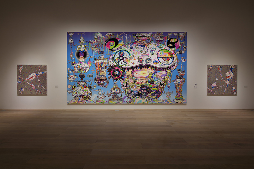 "Installation view: ""Takashi Murakami: The 500 Arhats,"" Mori Art Museum"