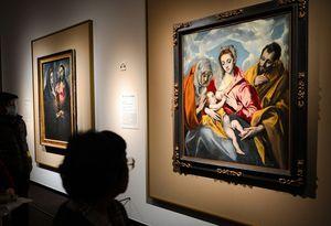 写真:「聖アンナのいる聖家族」(右)